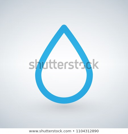 Water or oil drop line icon, outline vector sign, linear style pictogram isolated on white backgroun Stock photo © kyryloff