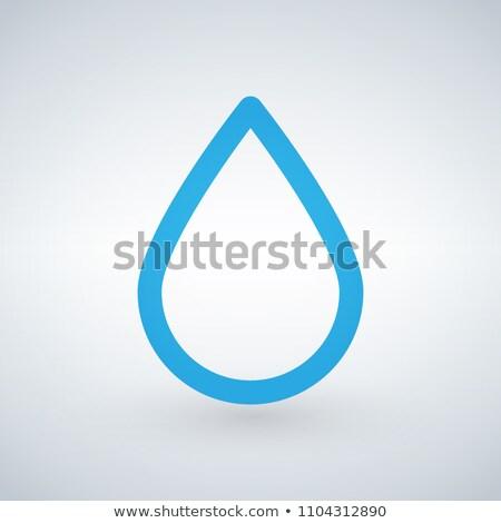 olie · drop · lijn · icon · vector · geïsoleerd - stockfoto © kyryloff