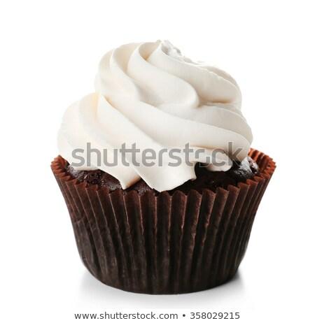Vanilla cupcakes with white cream Stock photo © Melnyk