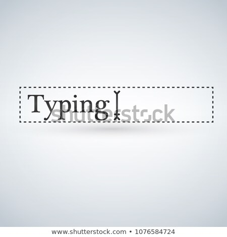 Text Cursor Navigation pointer in the box with text. vector illustration isolated on modern backgrou Stock photo © kyryloff