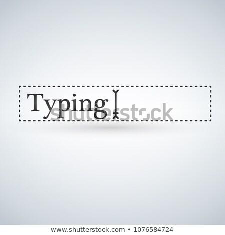 tekst · kursor · nawigacja · polu · odizolowany · nowoczesne - zdjęcia stock © kyryloff