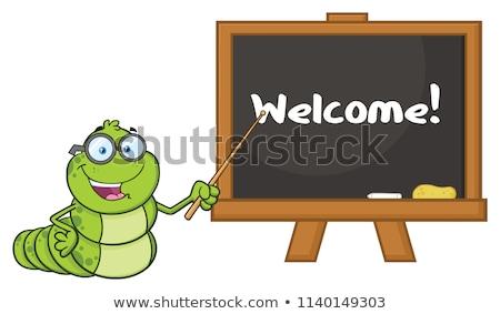Professor óculos indicação quadro-negro Foto stock © hittoon