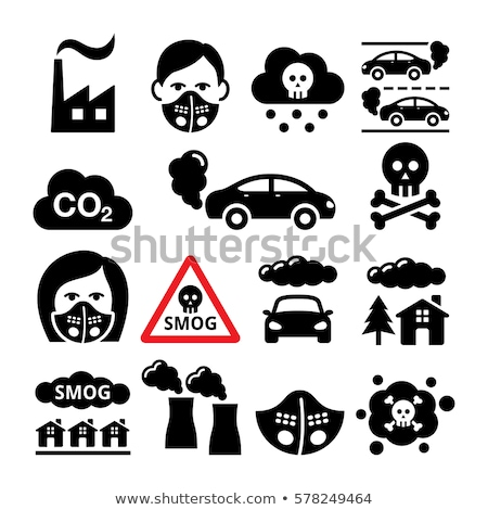 polluted air. man and woman. bad ecology Stock photo © studiostoks