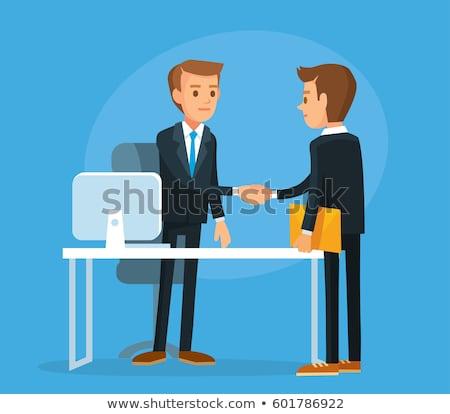 Foto stock: Empresario · apretón · de · manos · cliente · primer · plano · oficina · negocios
