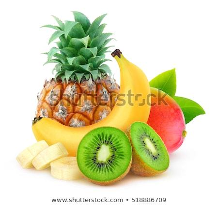 Fruta tropical ananás fruto símbolo festa folha Foto stock © odina222