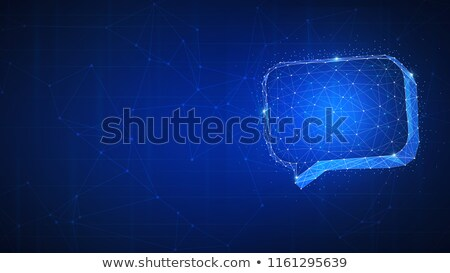 Polygon speech bubble with copyspace Stock photo © RAStudio