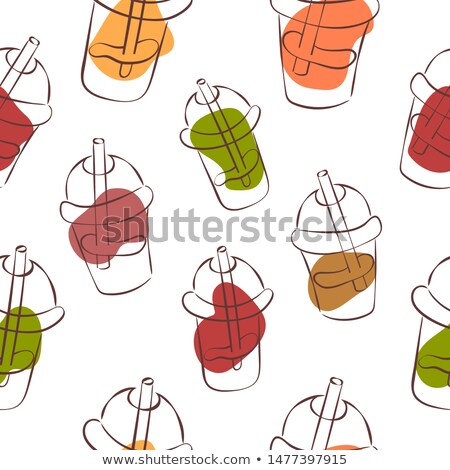 Stock photo: Smoothie cocktail simple vector pattern.