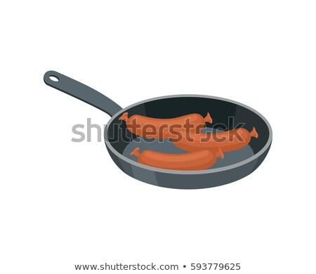rustico · pan · salsicce · carne - foto d'archivio © popaukropa