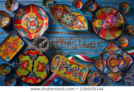 Mexican poterie style Mexique traditionnel artisanat Photo stock © lunamarina