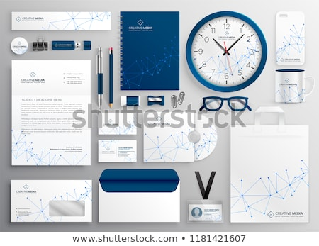 business stationery set in wireframe diagram Stock photo © SArts