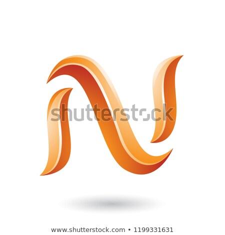 Turuncu parlak yılan vektör Stok fotoğraf © cidepix