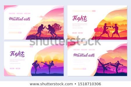 традиционный Мир брошюра карт набор Сток-фото © Linetale