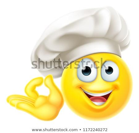 Emoji Chef Cook Cartoon Perfect Gesture Stock photo © Krisdog
