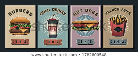 Hamburger Fastfood Poster Vector Illustration Stock photo © robuart