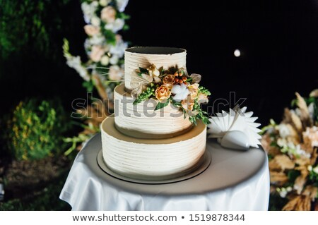 bruidstaart · drie · vloeren · vruchten · buiten · avond - stockfoto © ruslanshramko