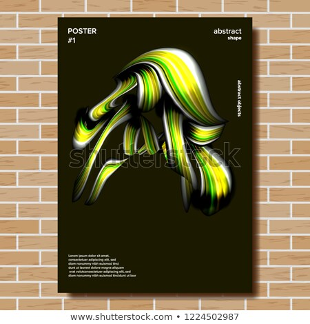 Abstract Shape Poster Vector. Smear, Stripe. Minimal Brigth Background. Illustration Stock photo © pikepicture