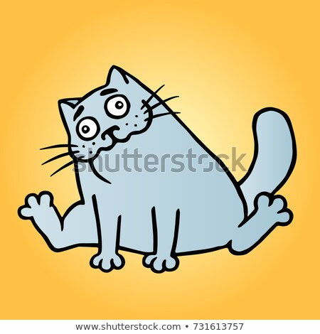 Drunk Cartoon Cat Stock photo © cthoman