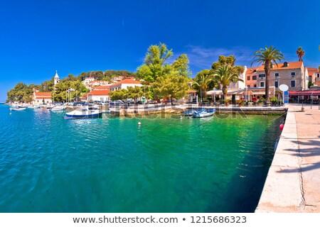 Adriatic town of Cavtat waterfront panoramic view stock photo © xbrchx
