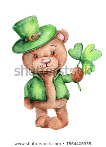 Desenho animado sorridente irlandês tenha gráfico Foto stock © cthoman