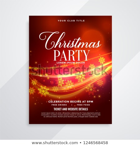 beautiful red christmas party flyer with light streak Stock photo © SArts
