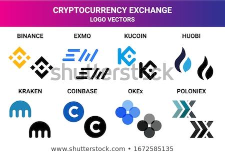 Exchange - Exmo. The Crypto Coins or Cryptocurrency Logo. Stock photo © tashatuvango