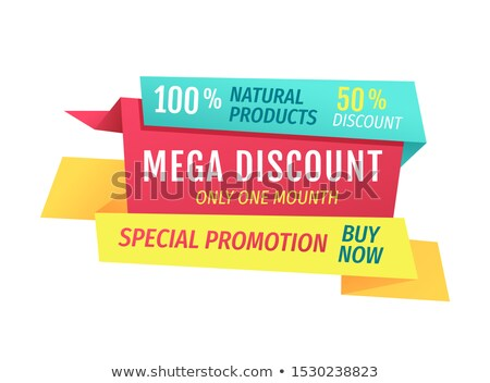 special promotion buy now mega discount only month stock photo © robuart
