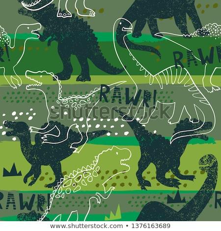 青 恐竜 実例 背景 壁紙 ストックフォト © colematt