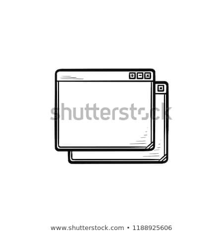 Kettő böngésző ablakok kézzel rajzolt skicc firka Stock fotó © RAStudio