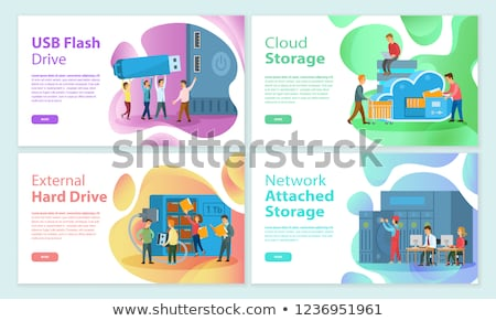 USB Flash Storage Cloud, Attached Network Memory Stock photo © robuart