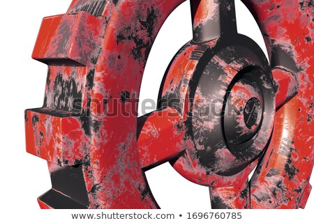 Heavy Industry - Mechanism of Shiny Metal Cogwheels. 3D. Stock photo © tashatuvango