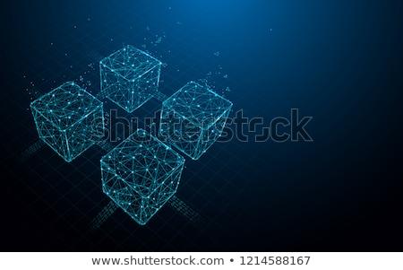 blockchain digital technology sketch icon vector stock photo © robuart