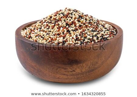 Bowl of white quinoa Stock photo © Alex9500