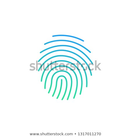 modern background cryptographic signature glyph icon security and identity fingerprint sign vecto stock photo © kyryloff