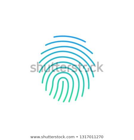 Moderna firma icono seguridad identidad huellas dactilares Foto stock © kyryloff
