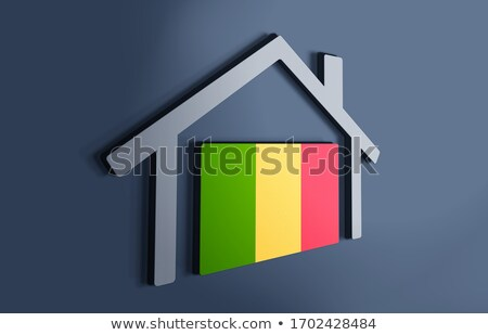 House with flag of mali Stock photo © MikhailMishchenko
