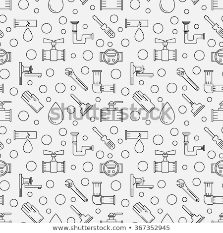 Plumbing concept icons pattern Stock photo © netkov1