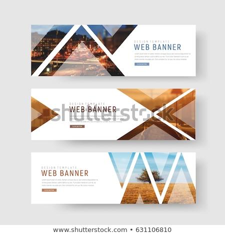 Landscape design concept banner header. Stock photo © RAStudio