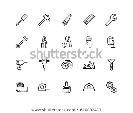 Photo stock: Outils · léger · ligne · design · main