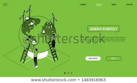 Save the planet - colorful flat design style web banner Stock photo © Decorwithme