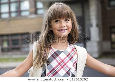 Nyolc évek öreg iskolás lány zárt lány Stock fotó © Lopolo