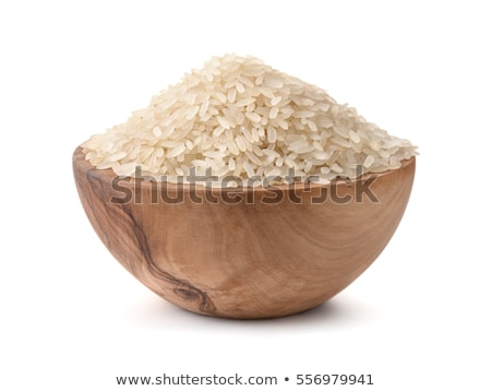 crudo · arroz · tazón · mesa · naturaleza · hoja - foto stock © tycoon