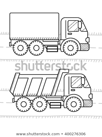 Cars and vehicles coloring book for kids. Dump Truck, truck Stock photo © sonia_ai