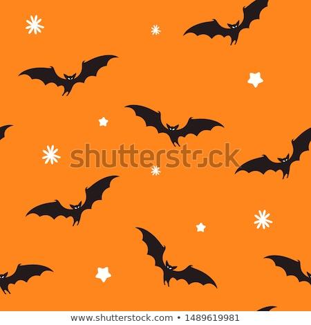 Fekete halloween citromsárga díszítések sok papír Stock fotó © dolgachov