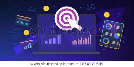 Dashboard dienst banner zakenlieden Stockfoto © RAStudio