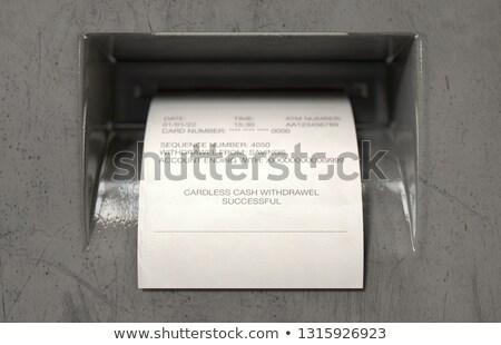 атм наличных мнение печати Сток-фото © albund
