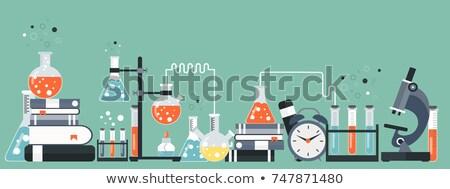 Laboratorium uitrusting banner wetenschap geneeskunde kennis Stockfoto © makyzz