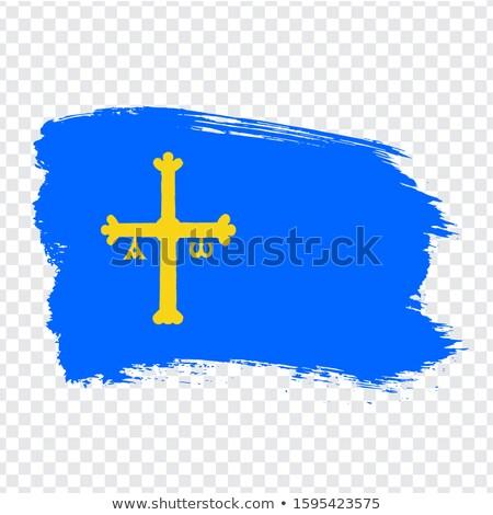 principality of asturias flag stock photo © grafvision