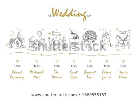 idővonal · sablon · fotók · vektor · infografika · cég - stock fotó © orson