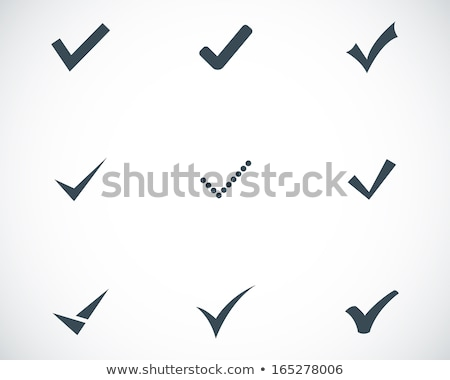 Check mark icon isolated on white background. Vector illustration. Stock photo © kyryloff
