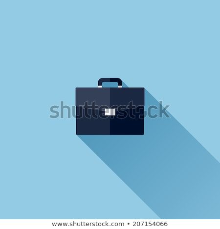 Aktetas icon vector lang schaduw web Stockfoto © smoki